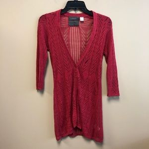 Anthro Guinevere linen blend knit cardigan xs